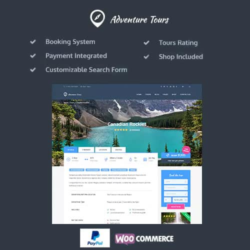 Adventure Tours WordPress TourTravel Theme