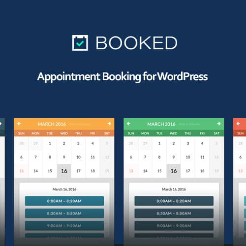 Booked Appointment Booking for WordPress