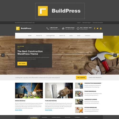 BuildPress Multi-purpose Construction and Landscape WP Theme