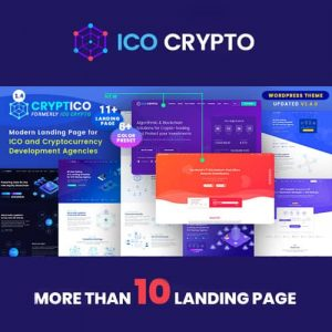 Cryptico ICO Crypto Landing & Cryptocurrency WordPress Theme
