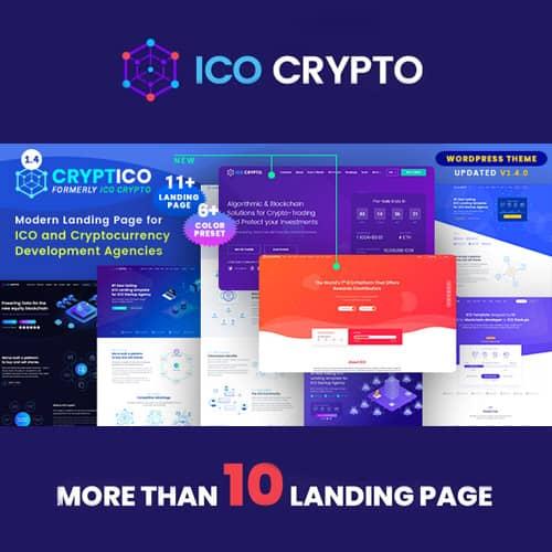 Cryptico ICO Crypto Landing & Cryptocurrency WordPress Theme
