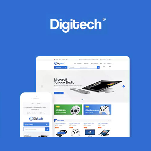 Digitech Technology Theme for WooCommerce WordPress