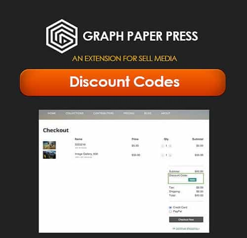 Graph Paper Press Sell Media Discount Codes Plugin