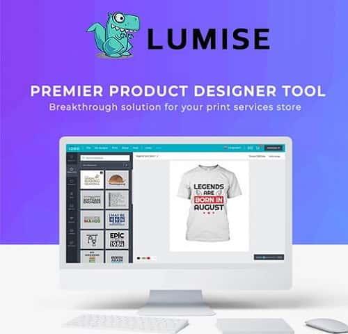 Lumise Product Designer WooCommerce WordPress Theme