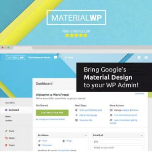Material WP Material Design Dashboard Theme