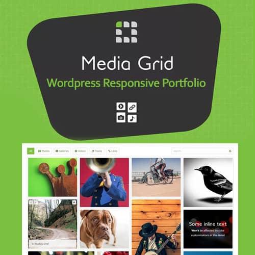Media Grid WordPress Responsive Portfolio