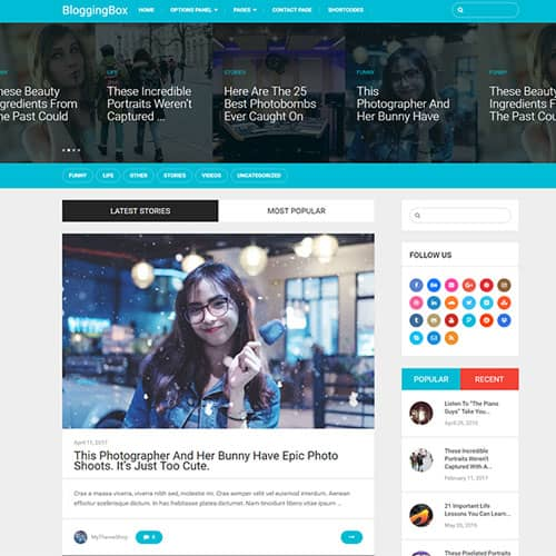 MyThemeShop BloggingBox WordPress Theme