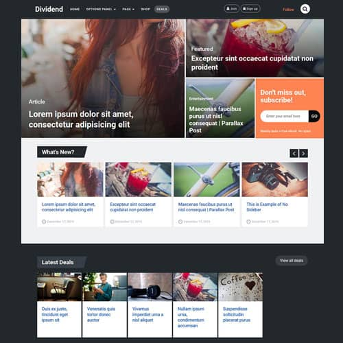 MyThemeShop Dividend WordPress Theme