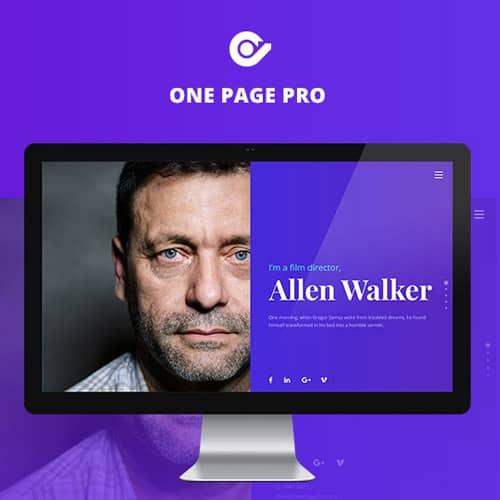 One Page Pro Multi Purpose OnePage WordPress Theme