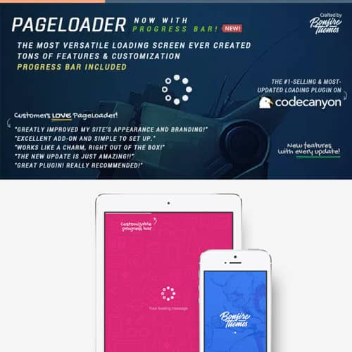 PageLoader Loading Screen and Progress Bar for WordPress