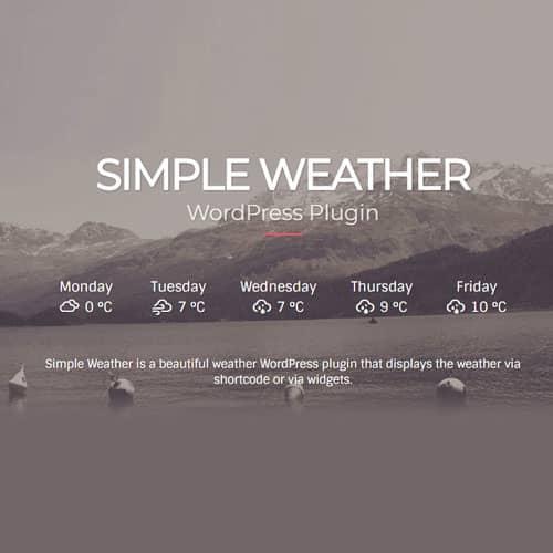Simple Weather Plugin