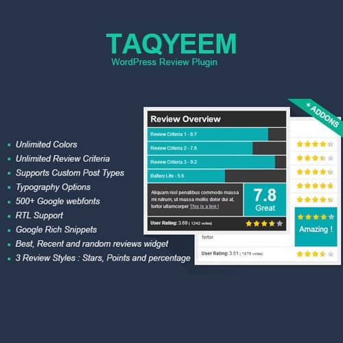 Taqyeem WordPress Review Plugin