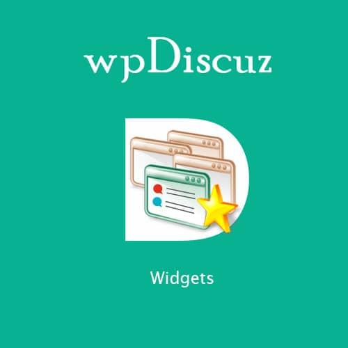 wpDiscuz Widgets
